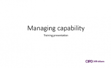 Managing capability training session