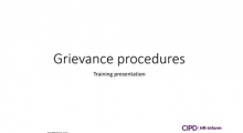 Grievance procedures training session