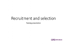 Recruitment and selection training session
