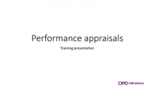 Performance appraisals training session