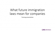 What future immigration laws mean for companies training session