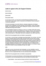 Letter to agree to the Job Support Scheme (Open)