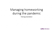 Managing homeworking during the pandemic